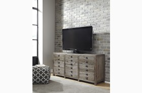 Keeblen Grayish Brown Extra Large TV Stand