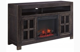 Gavelston LG TV Stand With Glass/Stone Fireplace Insert