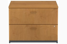 Series A Natural Cherry 36 Inch 2-Drawer Lateral File