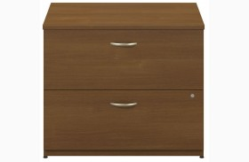 Series C Warm Oak 36 Inch 2-Drawer Lateral File
