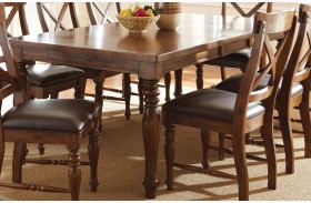 Wyndham Medium Cherry Extendable Rectangular Dining Table