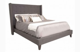 Weston Espresso Sepia Fabric Queen Platform Bed