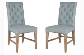 Wilshire Oasis Fabric Stone Wash Dining Chair Set of 2