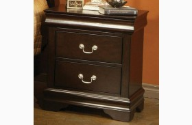 Louis Philippe Deep Cappuccino Nightstand