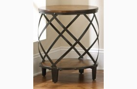 Winston Medium Cherry Round End Table