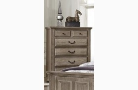 Woodlands Driftwood 5 Drawer Chest