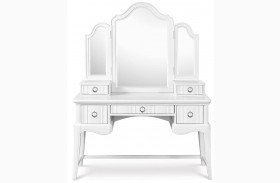 Gabrielle Desk with Vanity Tri-fold Mirror