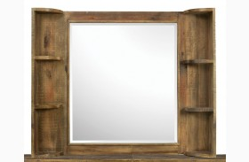 Braxton Landscape Mirror with Shelves