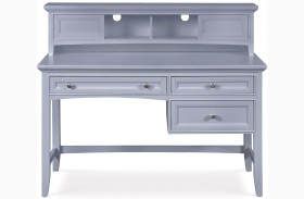 Graylyn Steel Drum Desk With Hutch