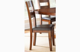 Zappa Medium Cherry Side Chair Set of 2