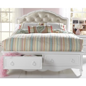 SweetHeart Twin Upholstered Storage Bed
