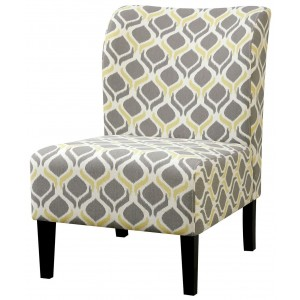 Grey and Yellow Pattern Accent Chair from Coaster