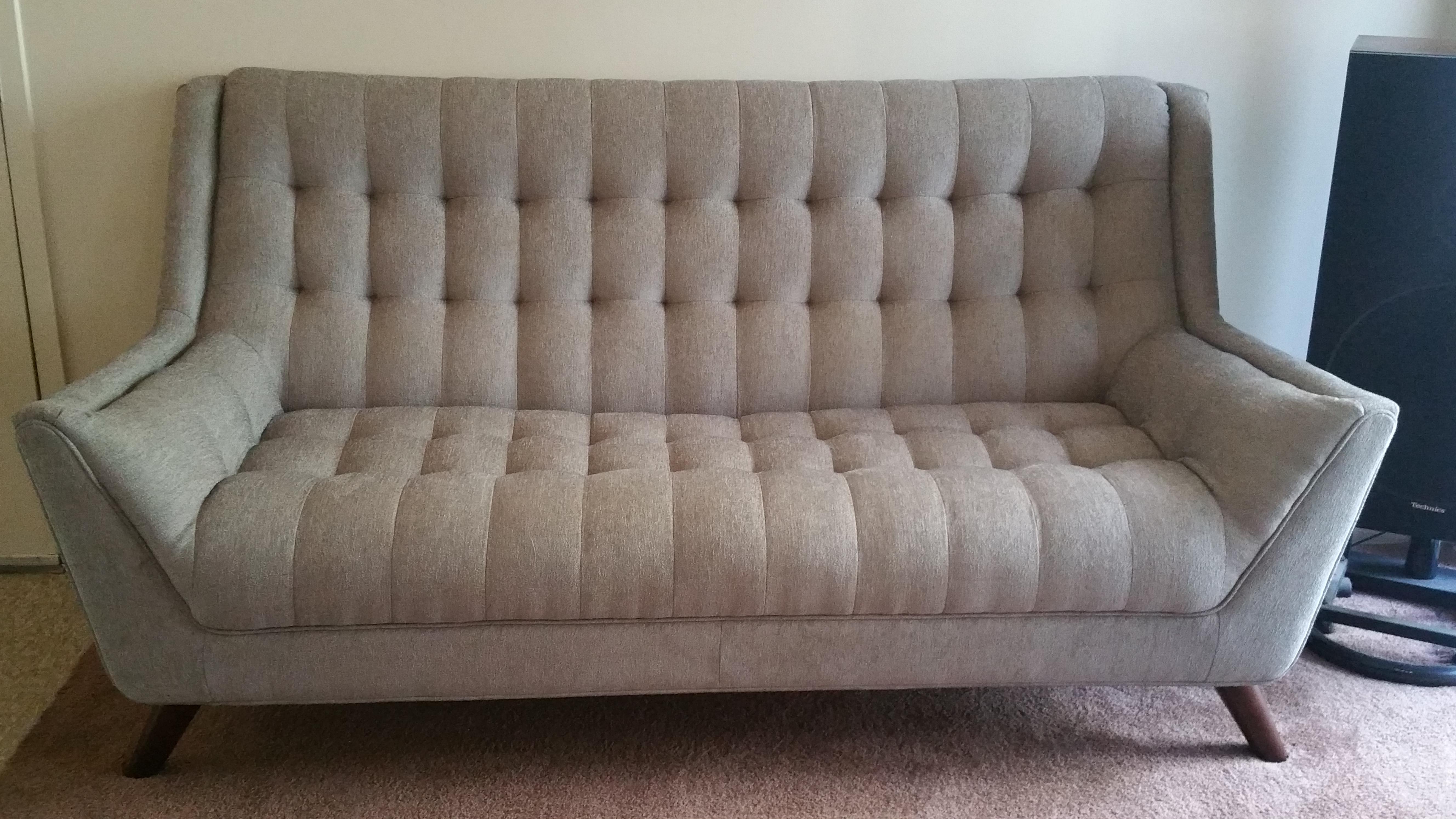 Natalia dove grey sofa from coaster 503771 coleman for Dove grey sectional sofa