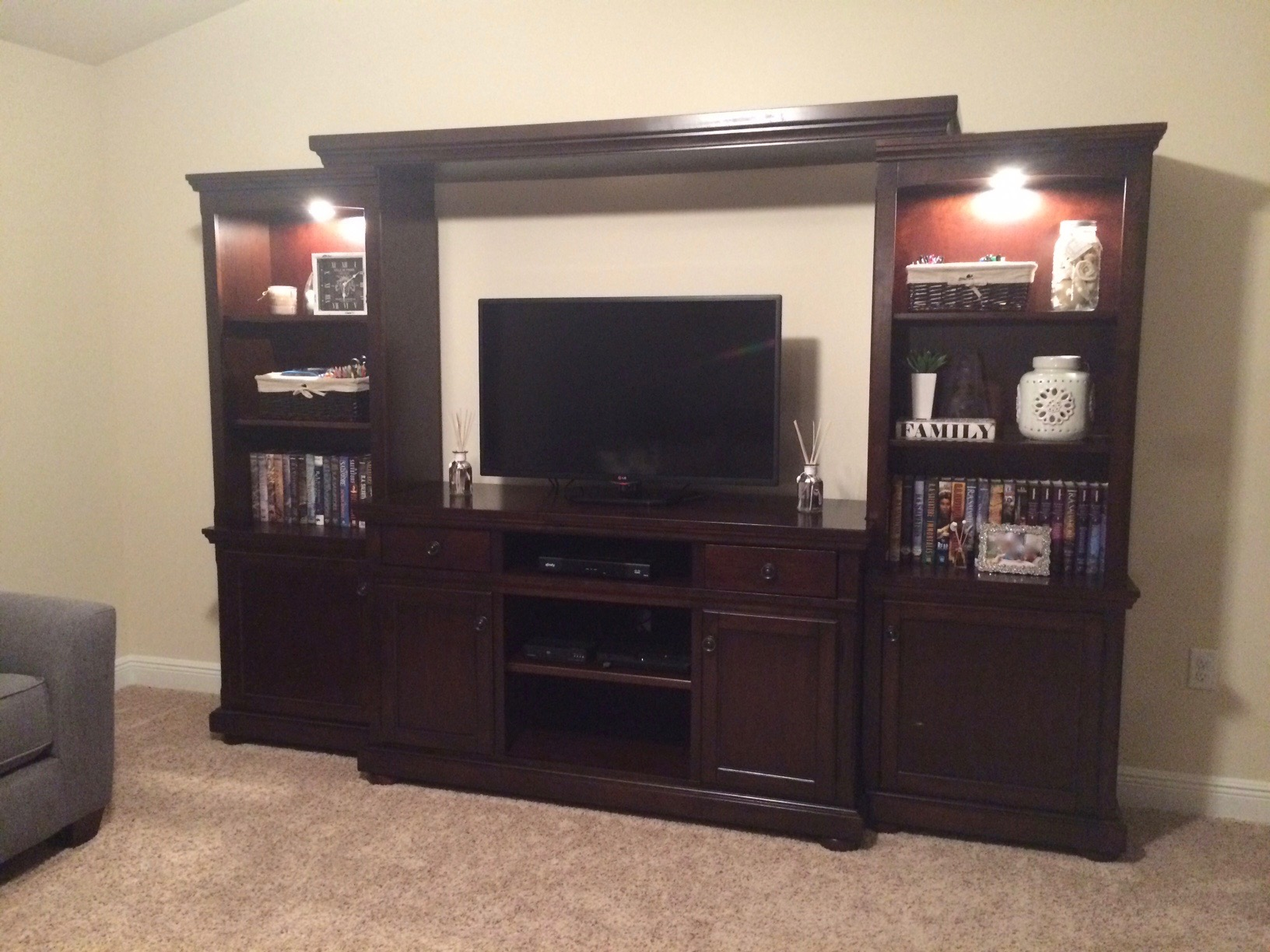 Porter Large Entertainment Wall Unit From Ashley W697 132 33 34 35 Coleman Furniture