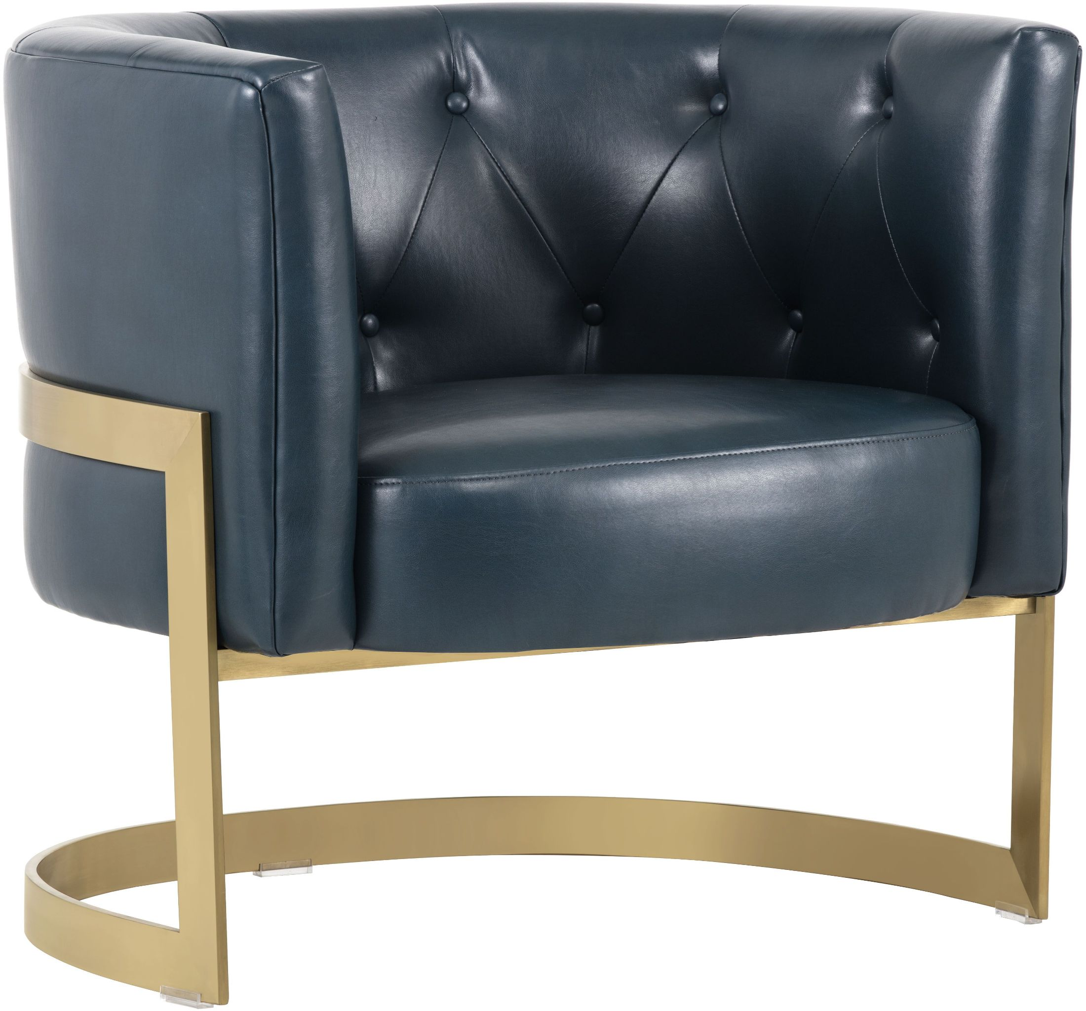 Image Of Item Club Karissa Blue Leather Club Chair