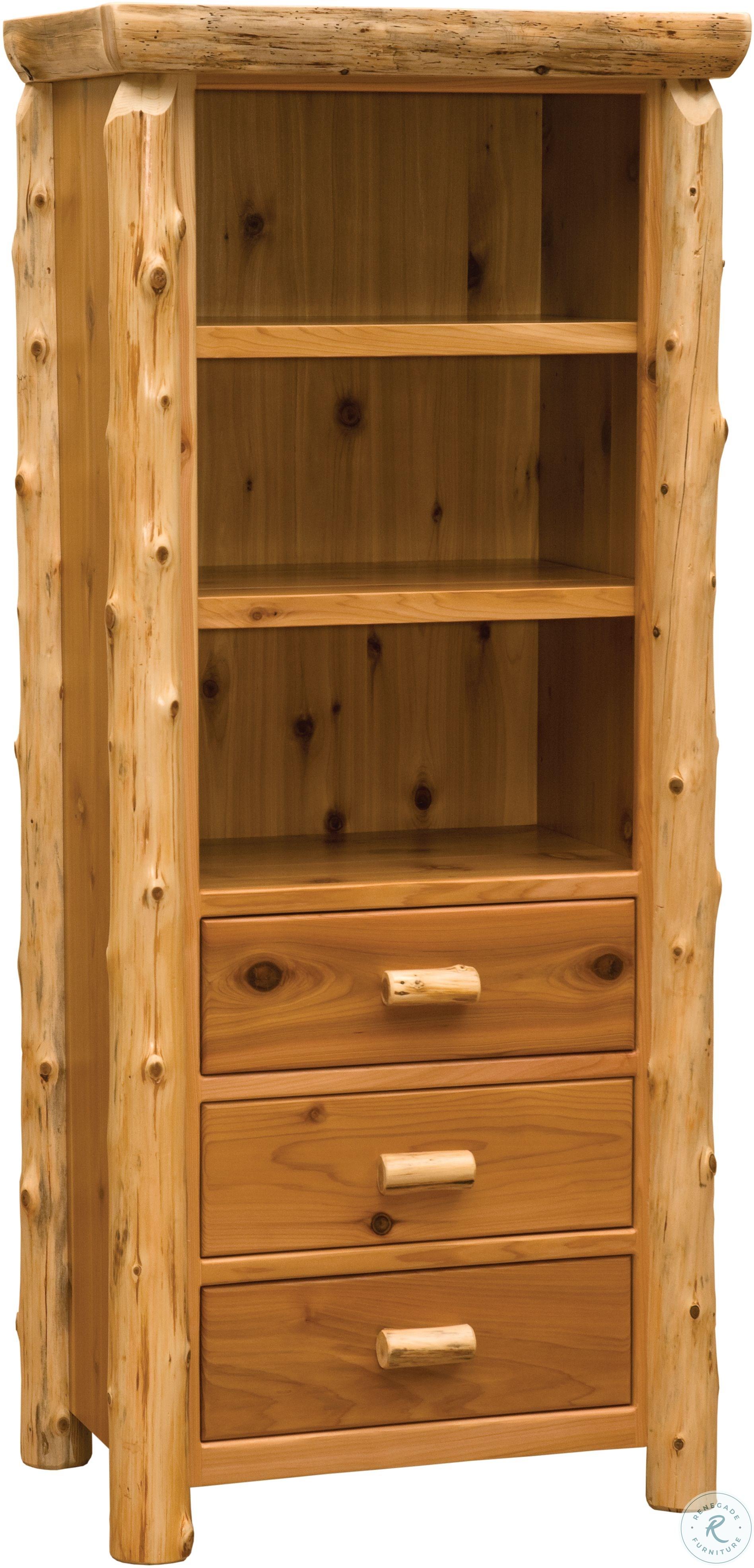 Cedar Clear Coat Open Pantry