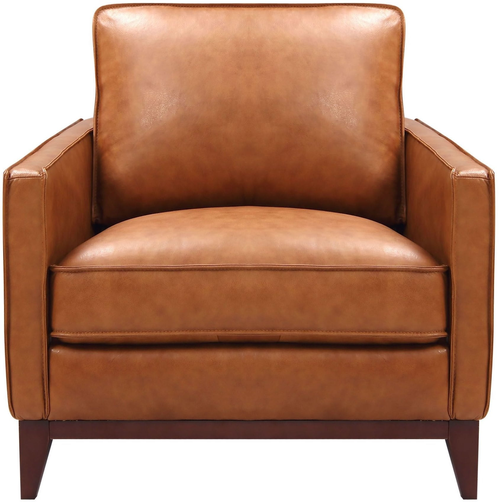 Image Of Item Georgetowne Newport Camel Leather Chair