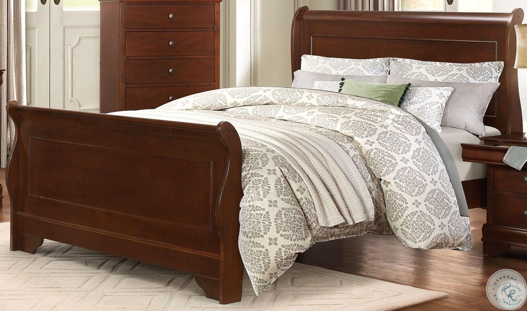 d7ab2776b Woodrow Black Full Upholstered Panel Bed from Homelegance | Coleman ...