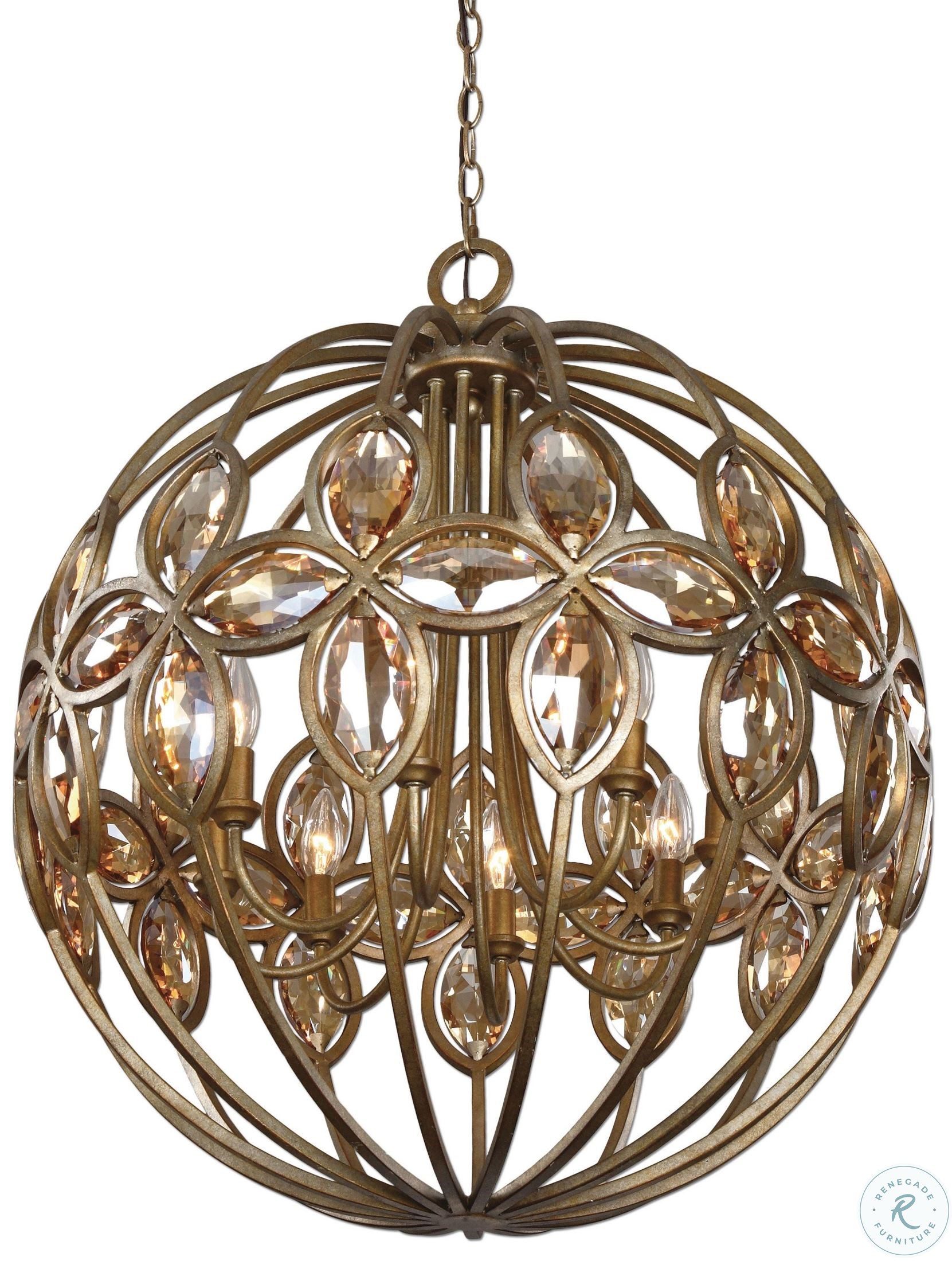 large crystal chandelier table top centerpieces for.htm ambre 8 light gold sphere chandelier from uttermost  21269  ambre 8 light gold sphere chandelier