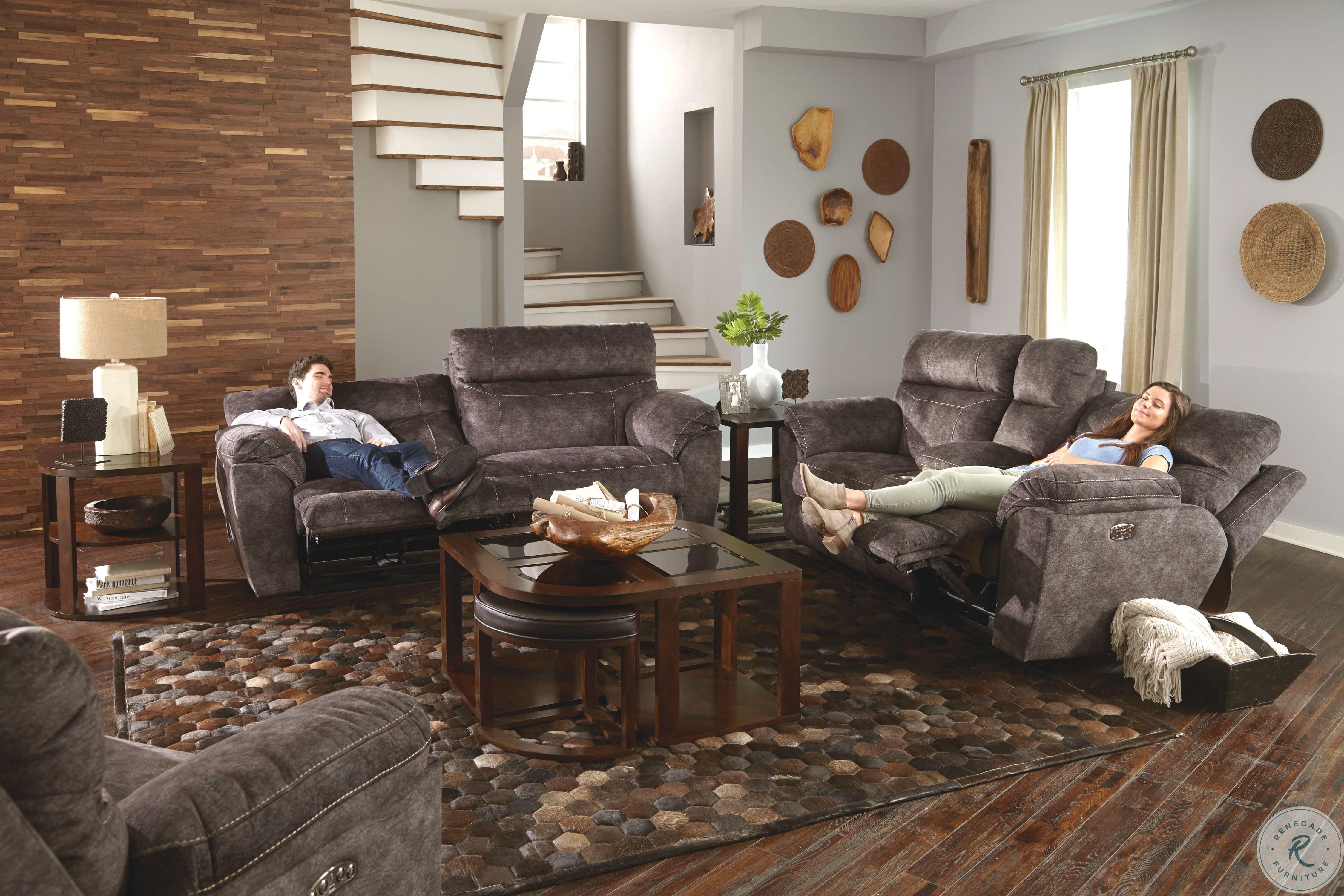 Awe Inspiring Sedona Smoke Power Reclining Sofa Dailytribune Chair Design For Home Dailytribuneorg