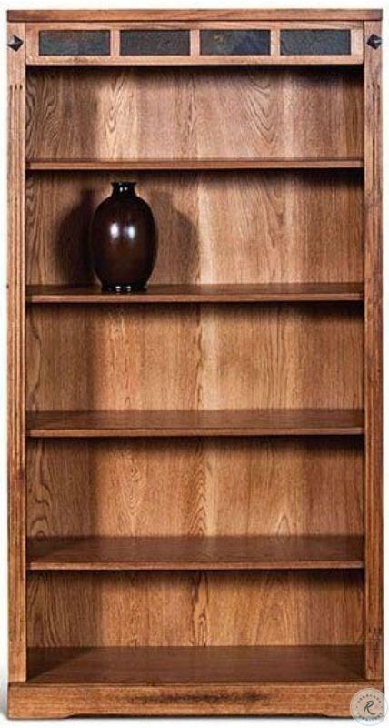 Valencia II Antique Oak Bookcase