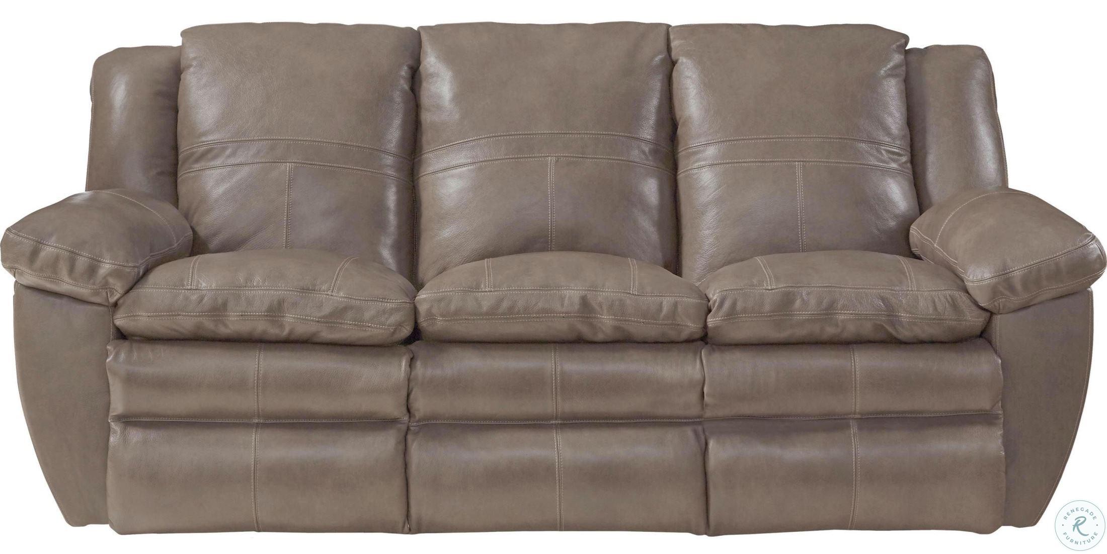 Aria Smoke Lay Flat Reclining Sofa from Catnapper | Coleman Furniture