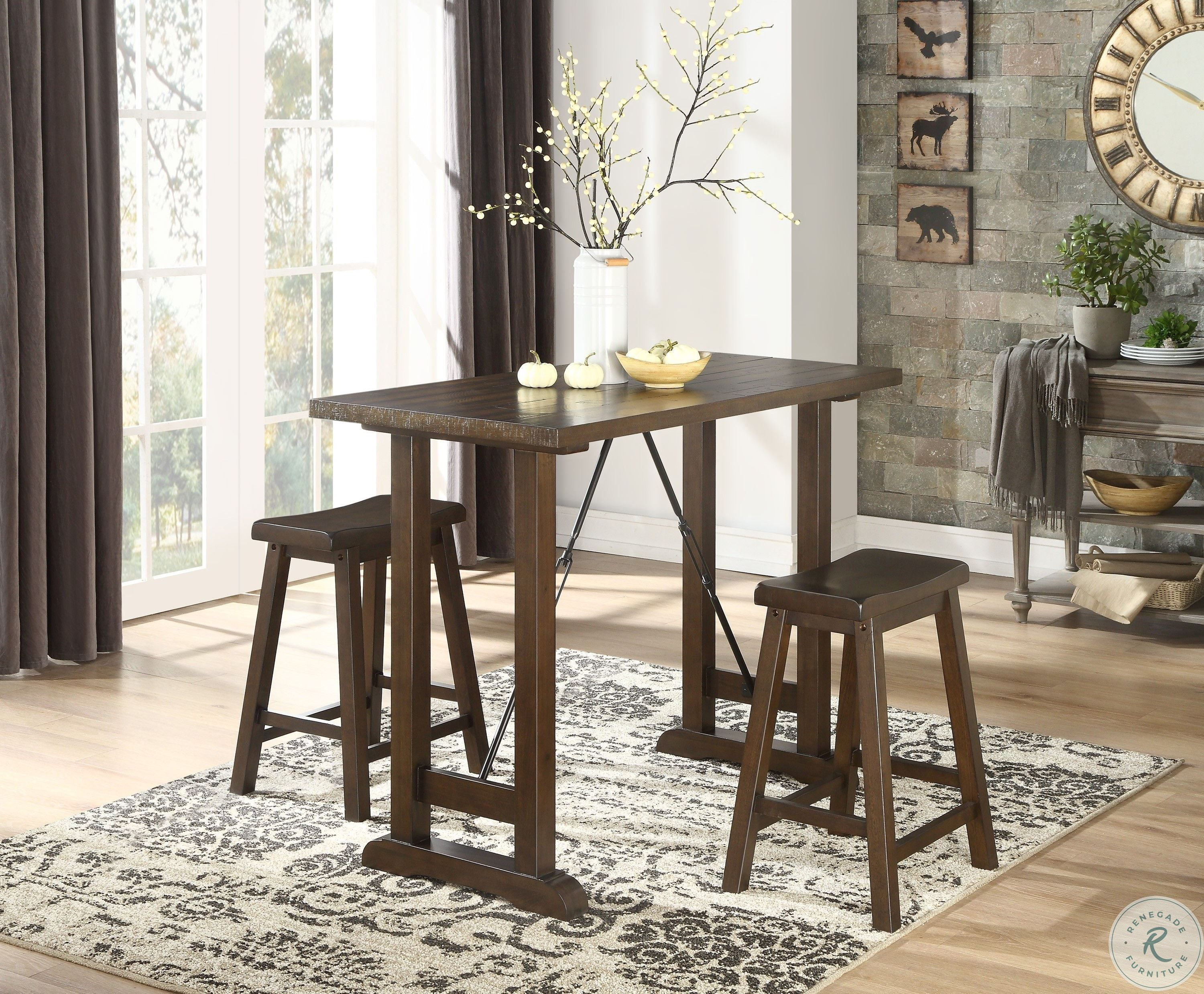 Signature Design By Ashley Meredy Dining Table Set Brown Home Kitchen Furniture