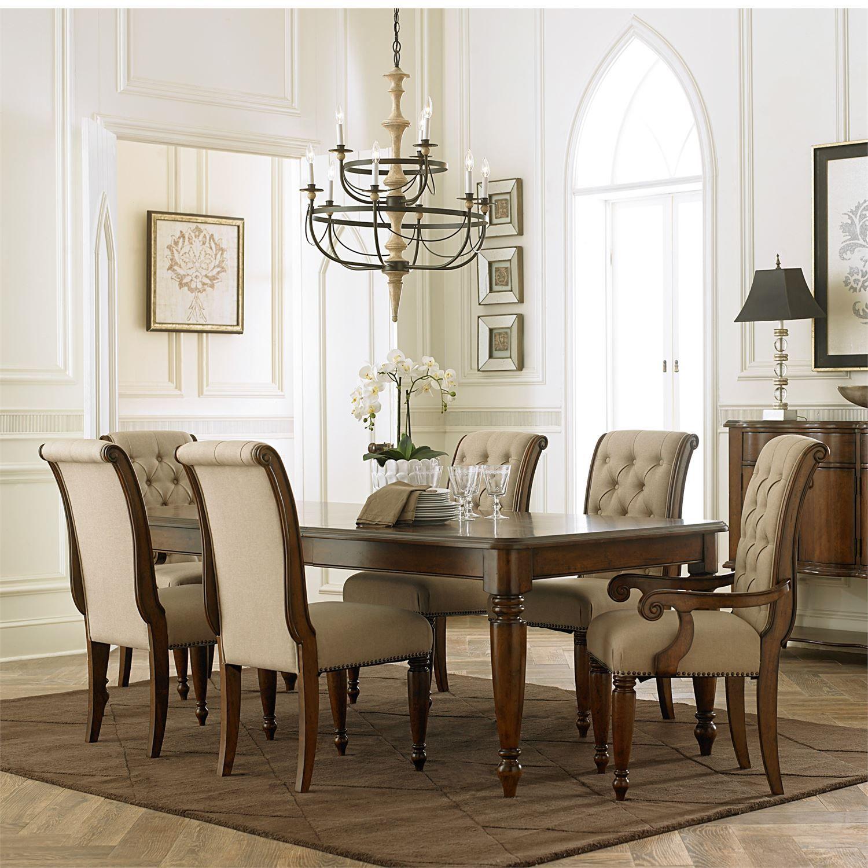 Image Of Item Cotswold Cinnamon Rectangular Leg Extendable Dining Room Set