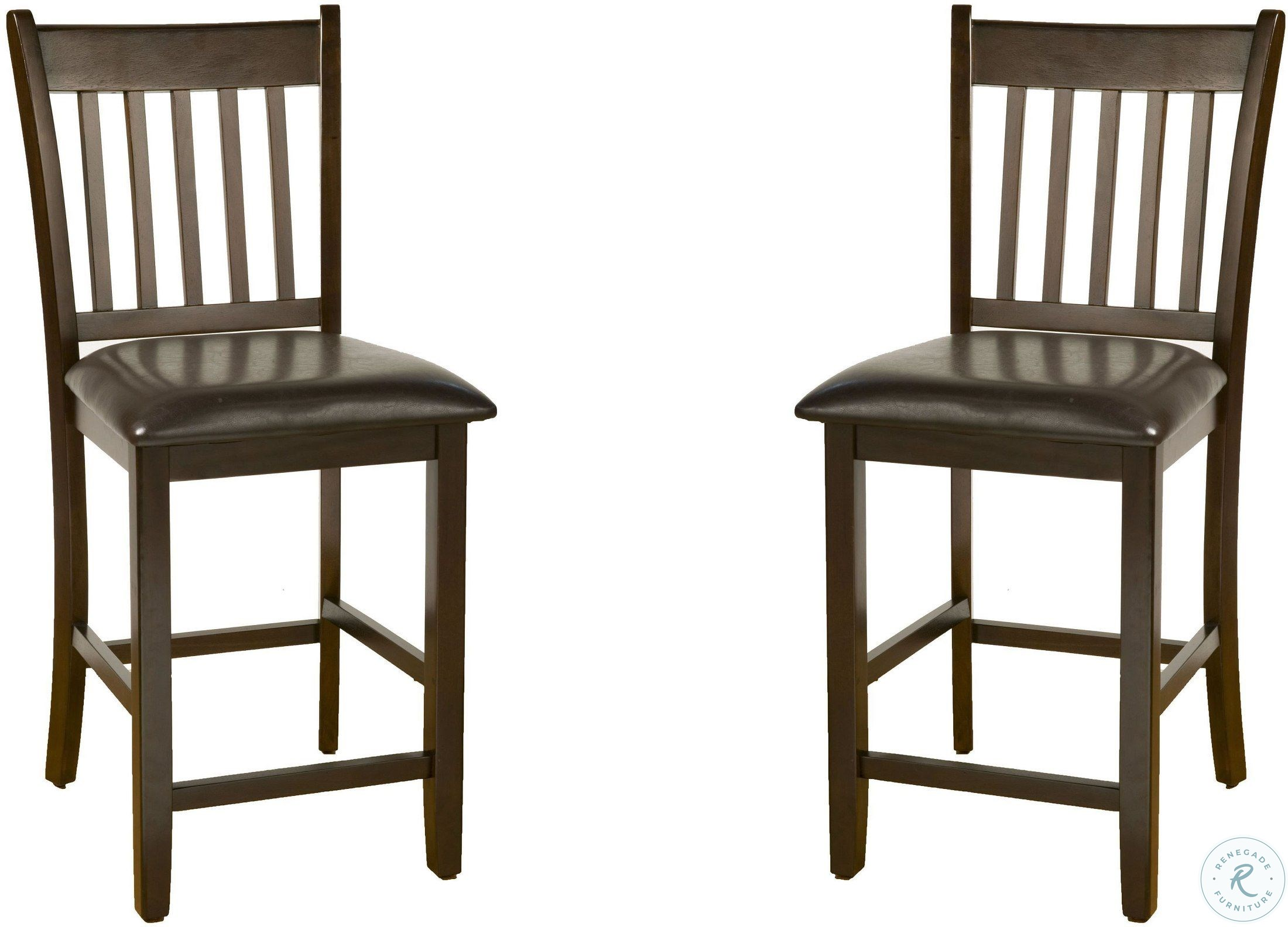 Incredible Capitola Espresso Pub Chair Set Of 2 Spiritservingveterans Wood Chair Design Ideas Spiritservingveteransorg