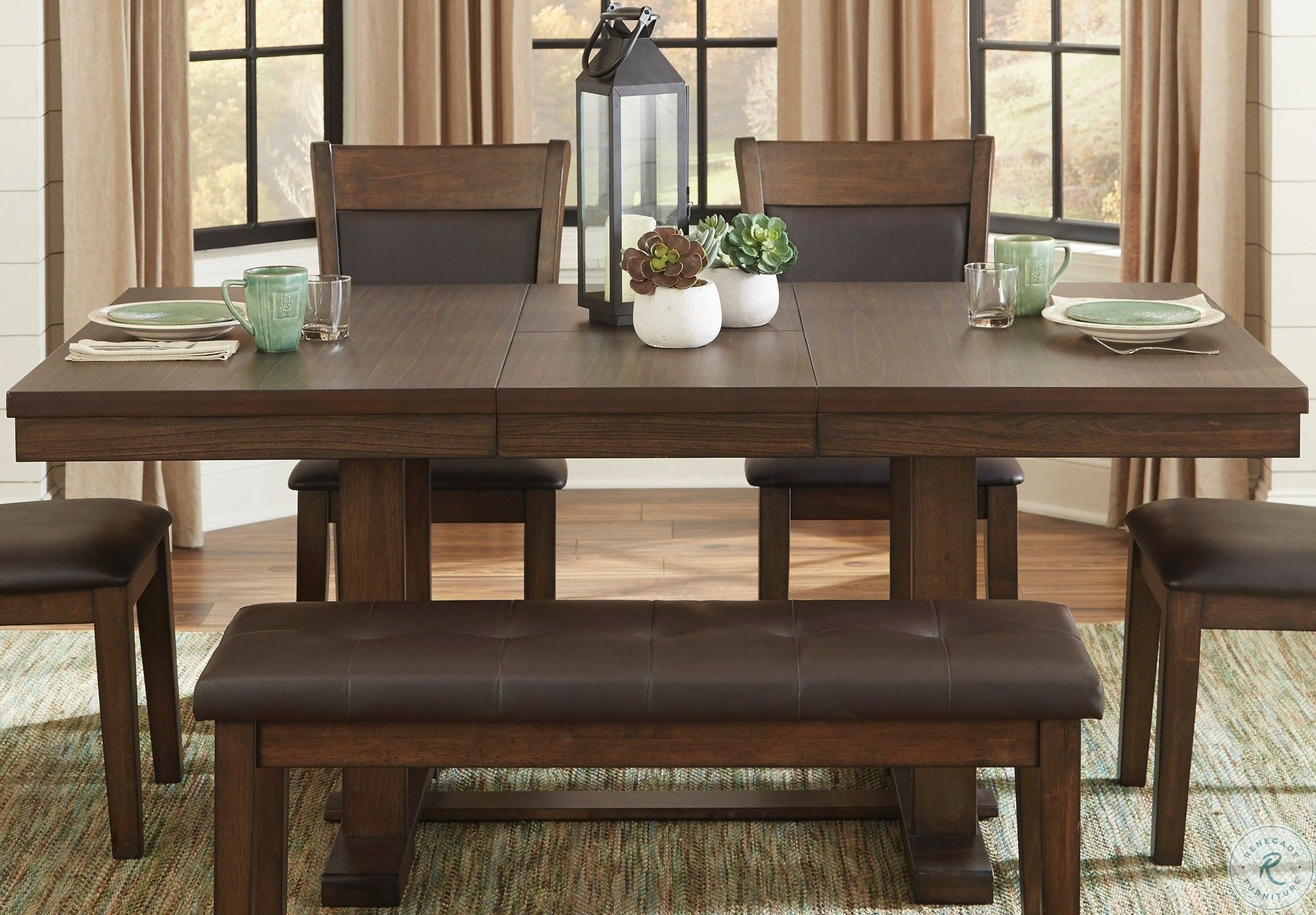 Wieland Light Rustic Brown Extendable Dining Room Set From Homelegance Homegallerystore Com 5614 72