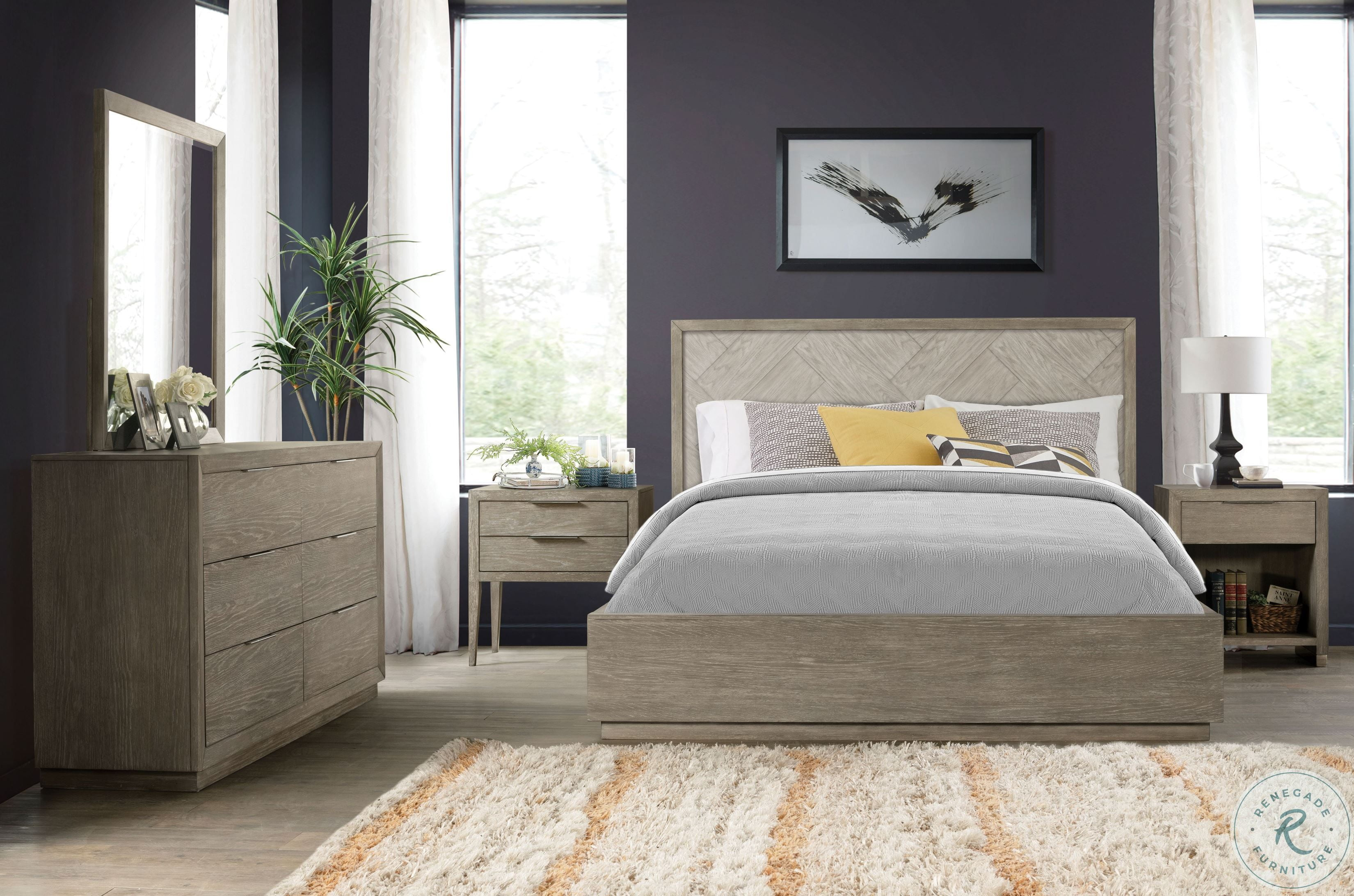 Raelynn Weathered White Panel Bedroom Set From Magnussen Home Coleman Furniture
