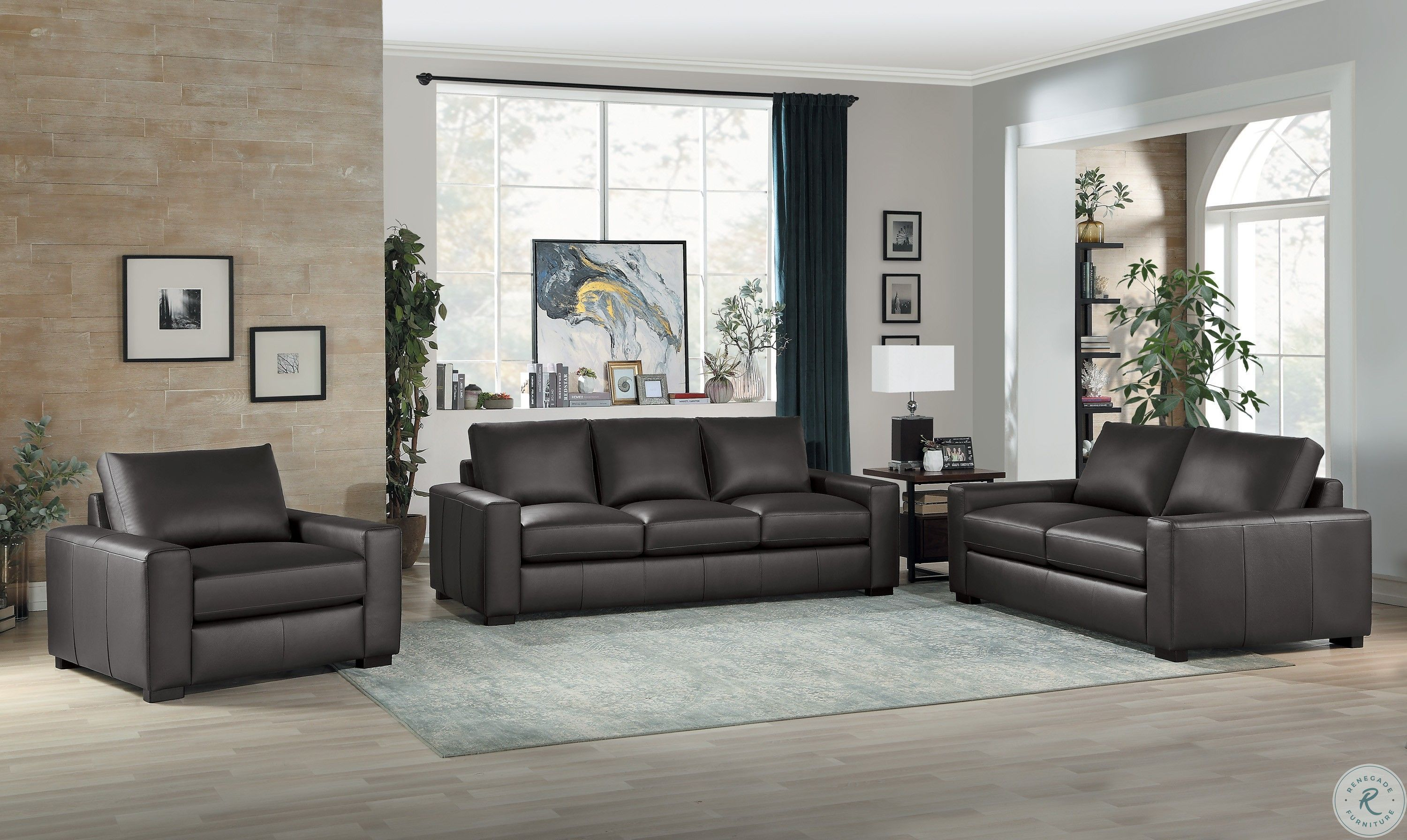 Escolar Dark Brown Leather Loveseat From Homelegance Coleman Furniture