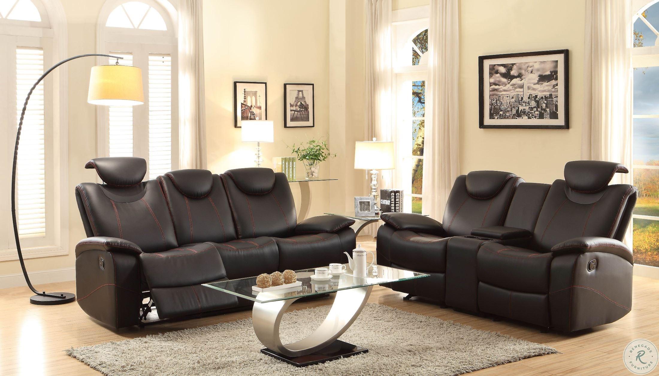 Peachy Talbot Black Double Glider Reclining Loveseat With Console Inzonedesignstudio Interior Chair Design Inzonedesignstudiocom