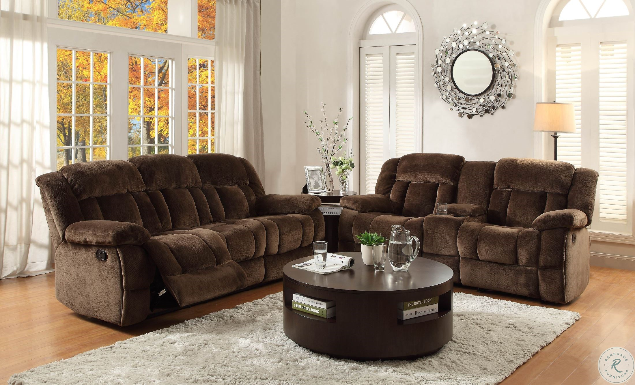 Astounding Laurelton Chocolate Double Glider Reclining Loveseat With Console Inzonedesignstudio Interior Chair Design Inzonedesignstudiocom