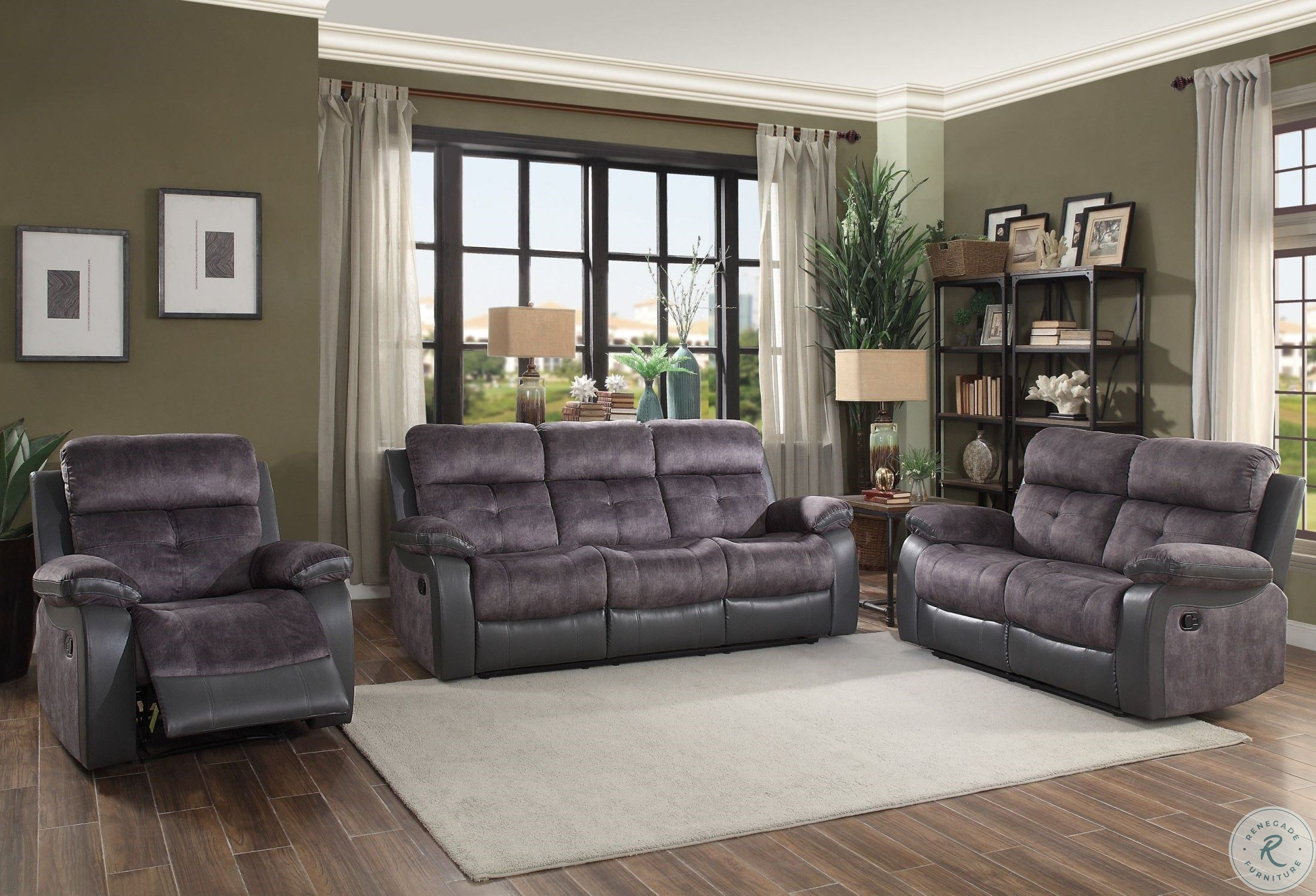 Pleasing Acadia Two Tone Double Reclining Loveseat Inzonedesignstudio Interior Chair Design Inzonedesignstudiocom