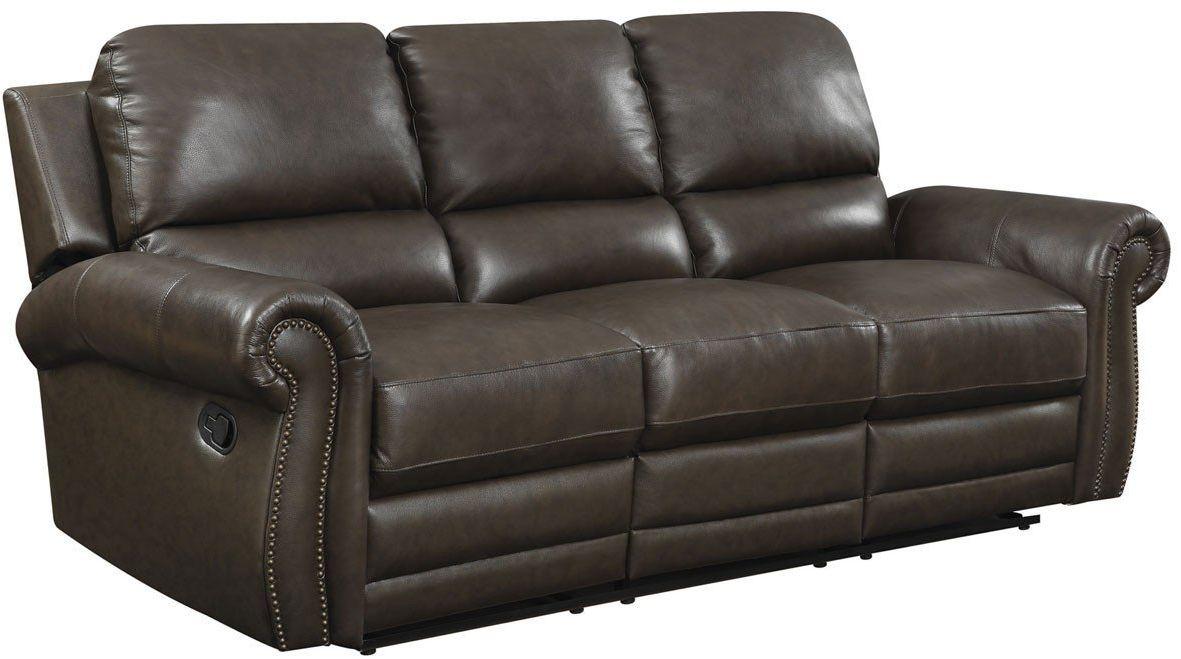Branson Rich Dark Brown Leather Sofa Sleeper from Jennifer Furniture ...