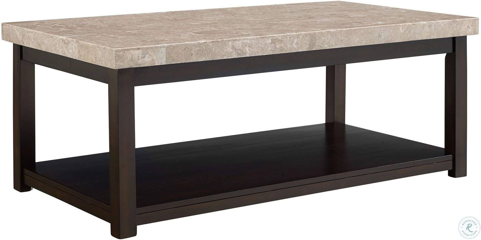 Caleb Espresso Coffee Table With Marble Top From Elements