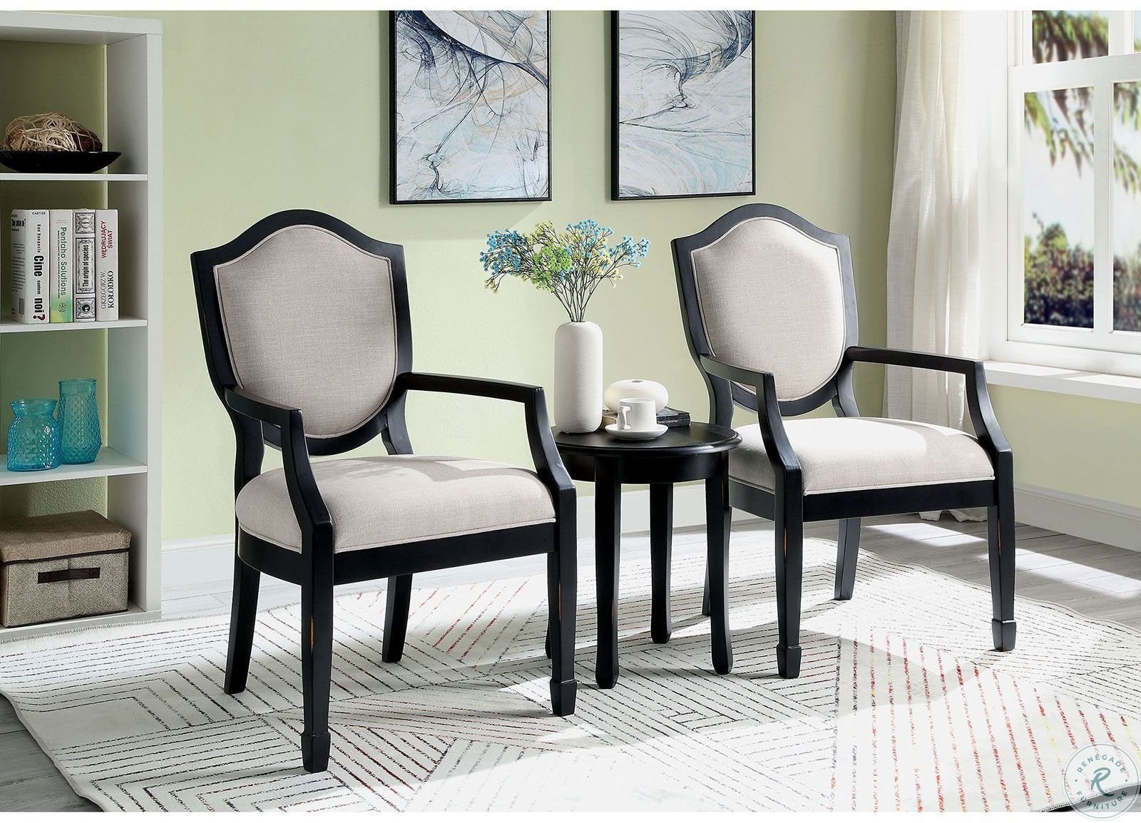 Sheffield Accent Chair From Furniture Of America Cm Ac6177 Pu Coleman Furniture