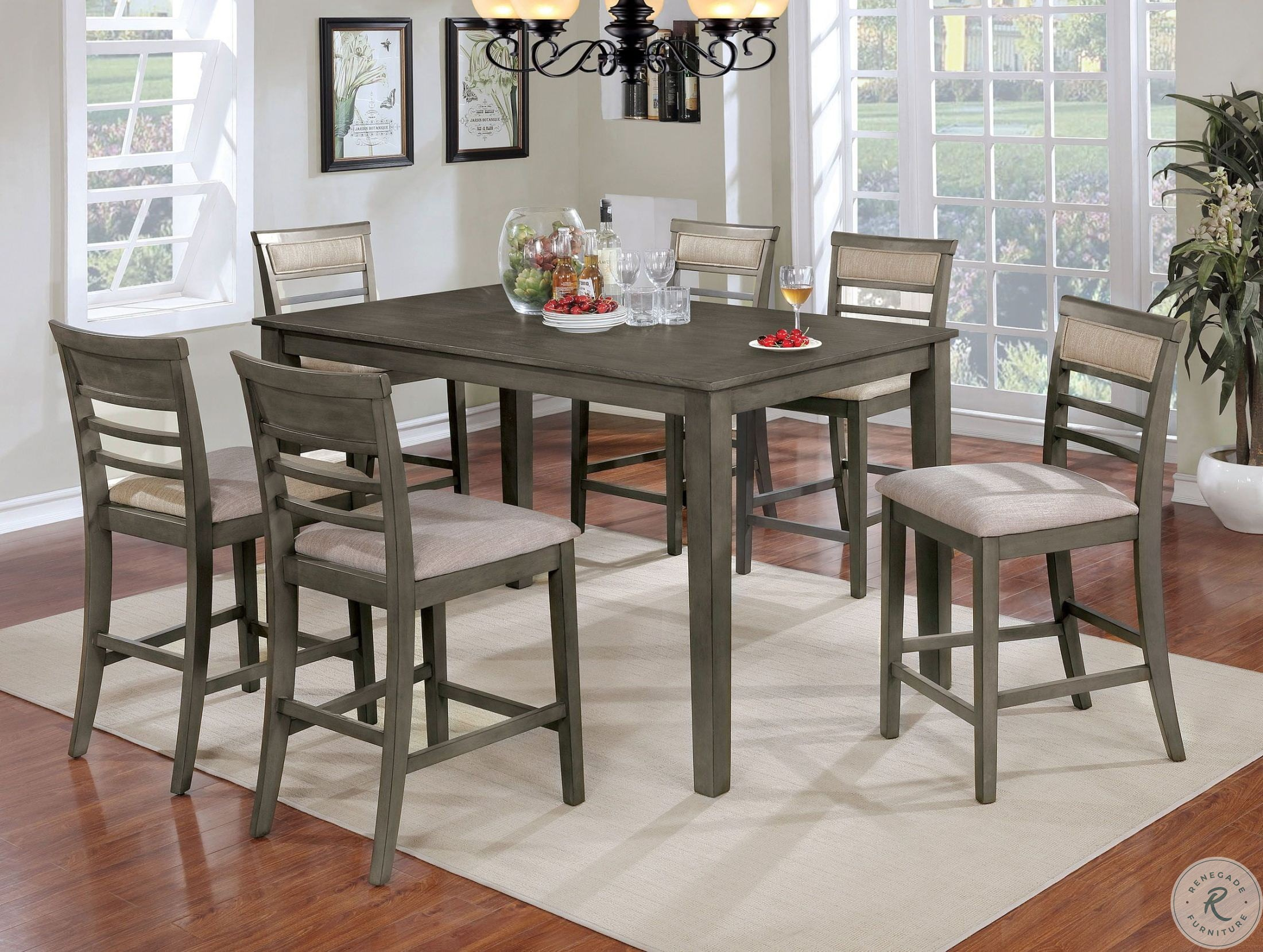 0248b12ea491 Fafnir Gray 7 Piece Counter Height Dining Room Set from Furniture of ...