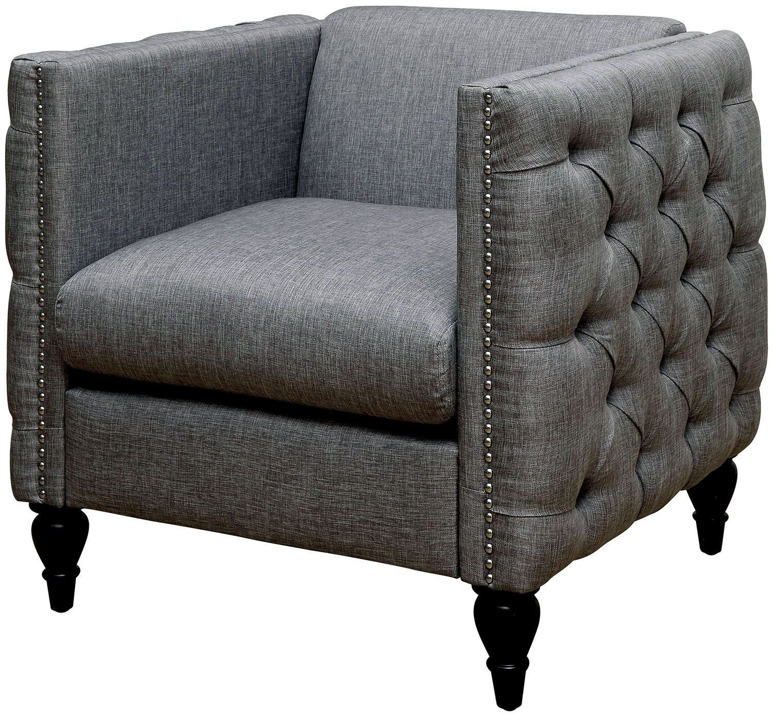 Emer Gray Loveseat from Furniture of America