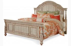 Belmar Antique Linen Panel Bed