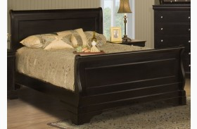 Belle Rose Black Cherry Sleigh Bed