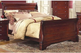 Versaille Bordeaux Sleigh Bed