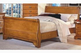 Honey Creek Caramel Sleigh Bed