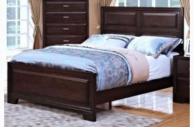 Garrett African Chestnut Panel Bed