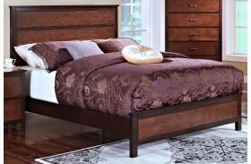 Bishop African Chestnut /Ginger Panel Bed