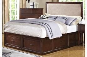 Serenity African Chesnut Storage Bed