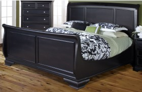 Maryhill Rubbed Black Sleigh Bed