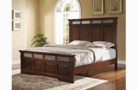 Madera African Chestnut Panel Bed
