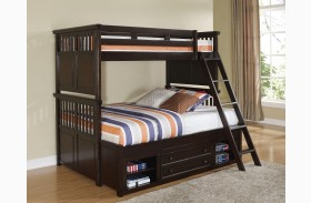 Canyon Ridge African Chestnut Storage Bunk Bed